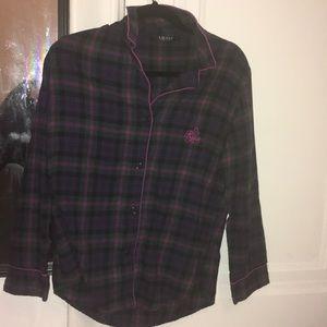 Purple Flannel Button Down Shirt